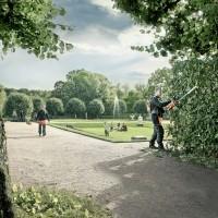 今年は、バッテリー商品を用いた近未来的な都市緑化管理をSilentCity(サイレントシティ)コンセプトとして推進しています。写真:コンセプトイメージ