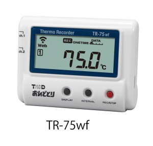 温度データロガー『おんどとり TR-75wf』無線LAN接続タイプ ※有線LAN接続タイプ『おんどとり TR-75nw』もあります。